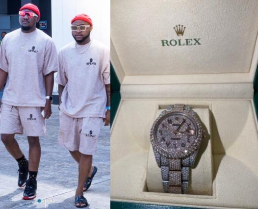Too Much Money! Davido Gifts His Cousin, Tunji Adeleke, A $40k Rolex (Photos) 6