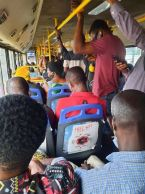 Man Shares Photo Of How COVID-19 Protocols Were Violated In A BRT Bus