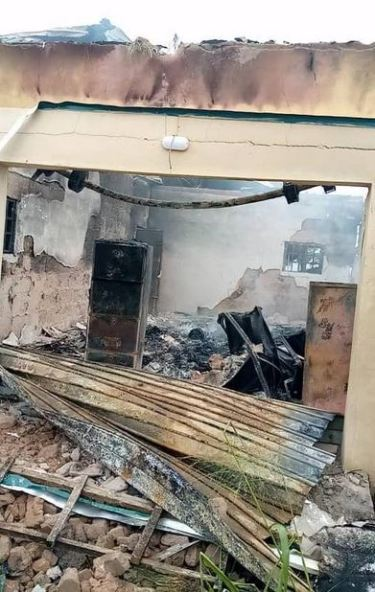 Police Investigates Fire Incident At Enugu INEC Office