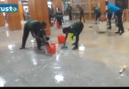 National Assembly Flooded As Roofs Leak