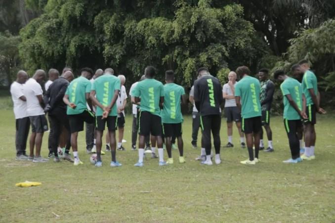 2022 WCQ : Super Eagles Hold First Training Session Ahead CAR Clash