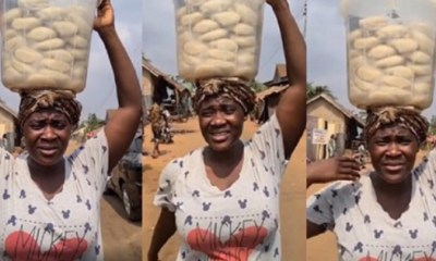 Mercy Johnson Prays For Mothers As She Hawks Fufu On A Movie Set