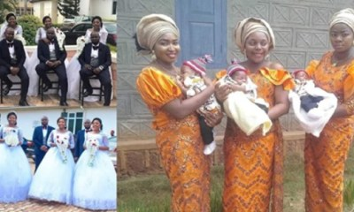 Triplets married their wives same Day
