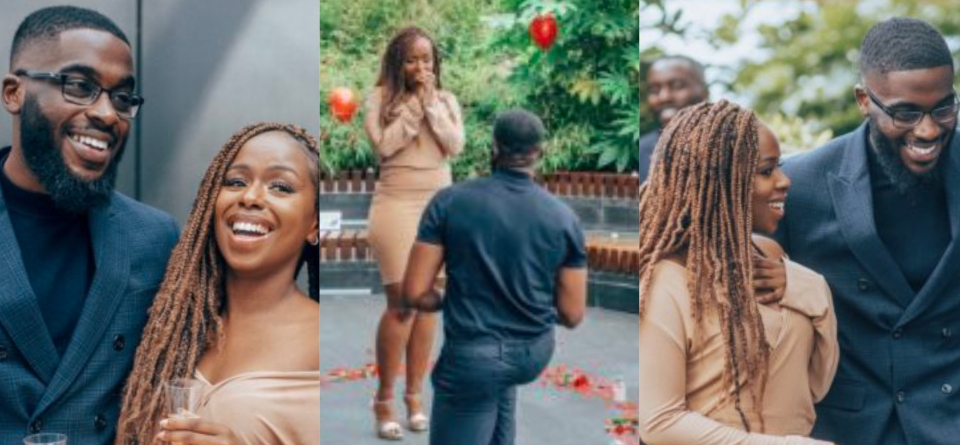 Lady excited after her best friend proposed to her (Photos)