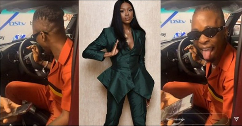 """#BBNaija: """"See this one, he can't even drive"""" – Vee """"yabs"""" Laycon as he plays with his new car (Video)"""