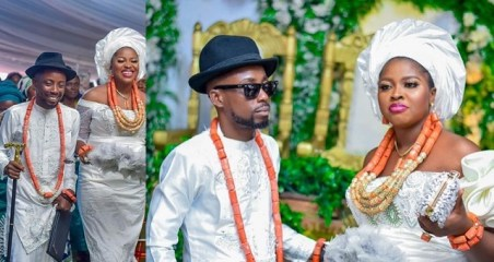 Rapper Erigga Ties The Knot With Nikki in Delta State (Photos)