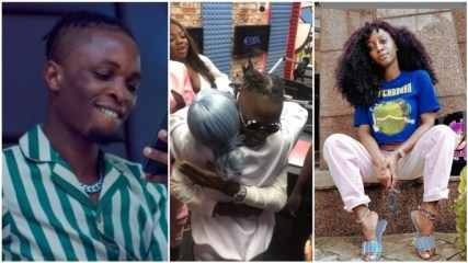 Watch The Moment Laycon Met His Crush Who Is A Popular OAP (Video)