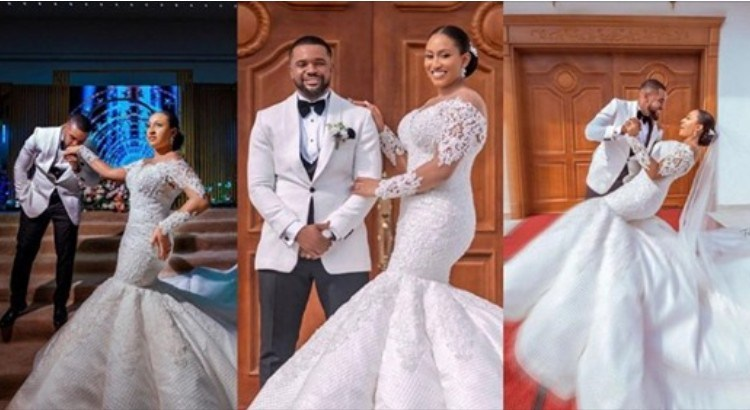 I lack words to express my gratitude to God - Williams Uchemba pens appreciation message as he officially releases his wedding photos