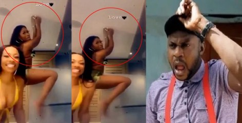 Yawa Don Gas! Lady Breaks Glass Door In Tw£rking Video while entertaining her Fans on live video [Video]