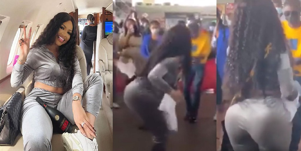Watch As Nengi Shakes Her HUGE Bum As She Arrives In Ghana For Meet And Greet (VIDEO)