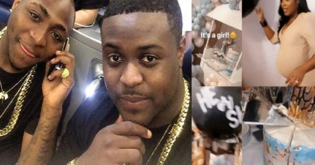 Davido's Elder Brother, Adewale Adeleke Welcomes First Child With His Wife (Photos)