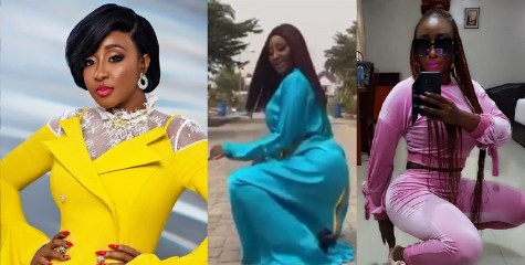 """""""She can't twerk to save her life"""" – Nigerians Drag Ini Edo Over Her #BussitChallenge Video"""