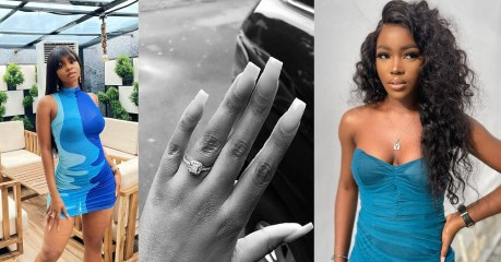 Iyabo Ojo's daughter, Priscilla announce marriage, shows off ring, Mercy Aigbe's daughter reacts (Photo)