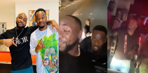 See How Fans Mobbed Davido & Zubby Michael In Onitsha, Anambra State (VIDEO)