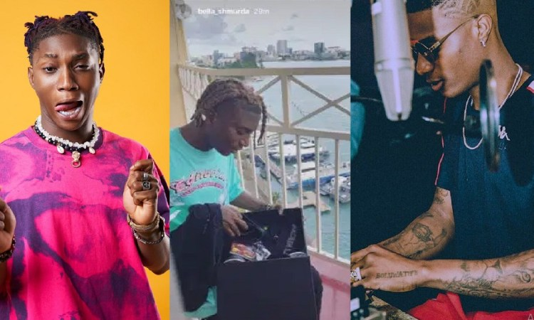 """'Gracias Mr. Balo' – Bella Shmurda Shows Appreciation After Received """"Made In Lagos"""" Gift Pack From Wizkid"""