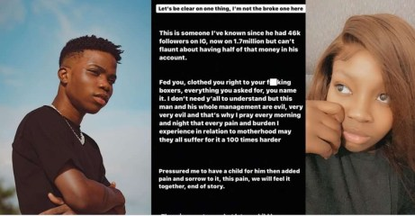 """""""He's evil…he pressured me to have a child for him then added pain and sorrow to it"""" – Singer Lyta's babymama, Kemi, continues to drag him"""