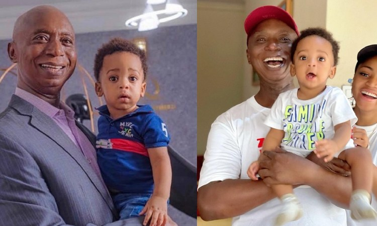 'Grandpa And Son, You Are Looking Handsome- Reactions As Ned Nwoko Shares New Photo