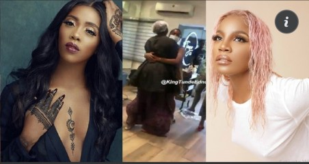 celebrities react to the dirty fight between Tiwa Savage and Seyi Shay at a saloon today (watch the fight video)