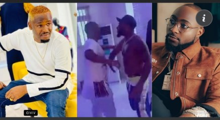 Stop promoting cultism - Fans warns As Davido And Zubby Michael were Spotted Exchanging  handshake (Video)