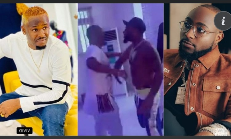 Stop promoting cultism - Fans warns As Davido And Zubby Michael were Spotted Exchanging by handshake (Video)