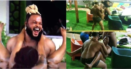 #BBNaija: Checkout Fans Reactions As #BBNaija2021 Housemate Whitemoney Lifts And Rocks Angel During The Jacuzzi party (video)