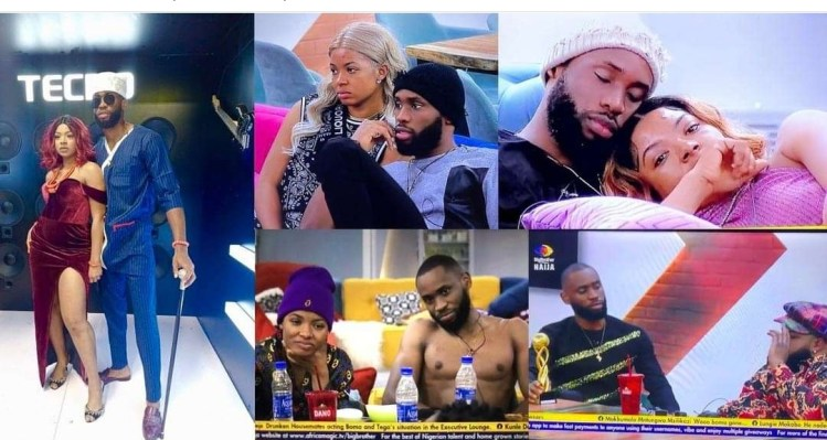 """#BBNaija: WhiteMoney advises Emmanuel to stick with Liquorose in order to survive evicitons; says Liquorose is """"too sure"""" (WATCH)"""