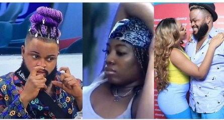 """#BBNaija: """"Na my mouth you wan hear story"""" – Whitemoney shuns Angel after she requested to know the problem between him and Queen (Video)"""