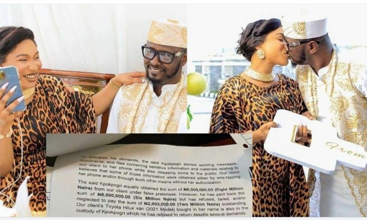 """You rubbished first man you married, you think you can play same game with me"""" – Kpokpogri shades Tonto Dikeh"""