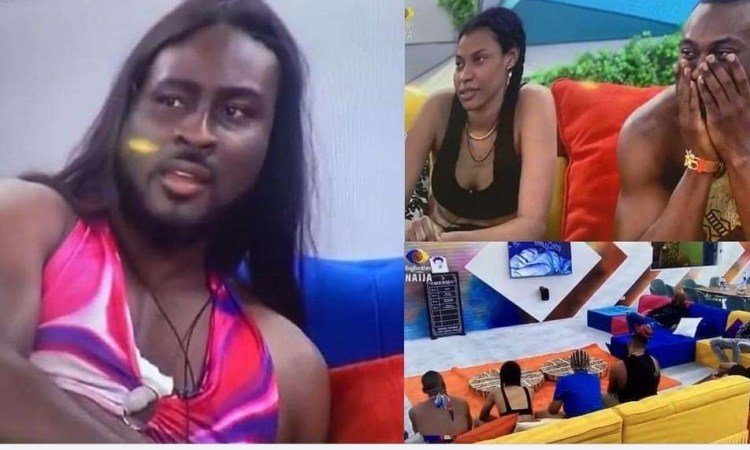 #BBNaija: Moment Biggie showed the house video of Saga badmouthing his bestfriend, Pere to Nini (Watch)