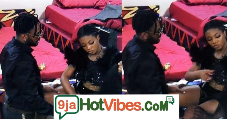 #BBNaija: Angel Ends Her Relationship With Cross, Snubs Him As He begs on his knees For Forgiveness Ahead of Today Eviction (Video)