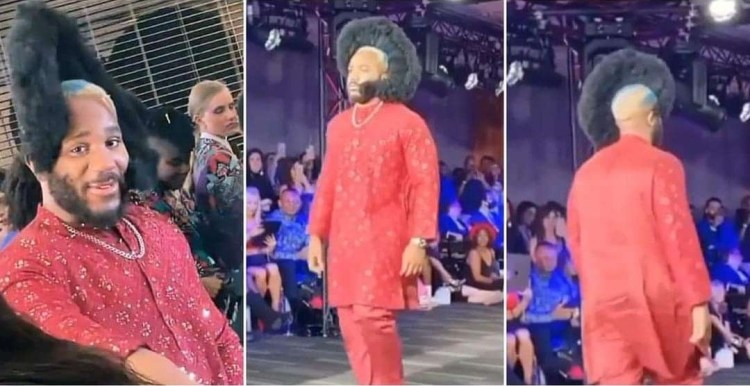 """Who Did This to Him?"""" Funny Reactions Trail BBNaija's Kiddwaya As He Walks the Runway During London Fashion Week"""