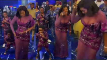 Moments Tiwa Savage's Son Stole Show During Burial with SpiderMan Dance strides – (VIDEO)