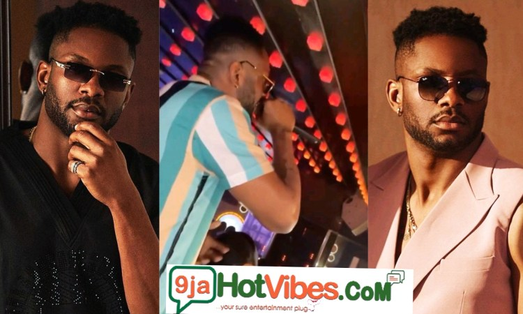 Cross Plays A Big Role As The Hypeman During His Homecoming Friday Night Party In Abuja (video)