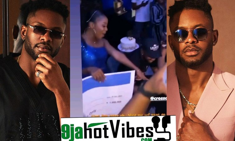 Cross receives The Sum Of N1million Naira And Other Expensive Gifts From His Fans During His Homecoming In Abuja (video)