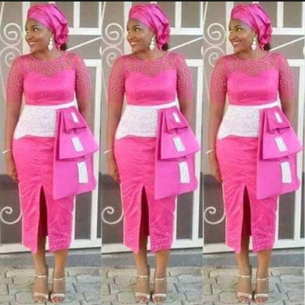Perfect Combo Styles for White Materials and Ankara Materials