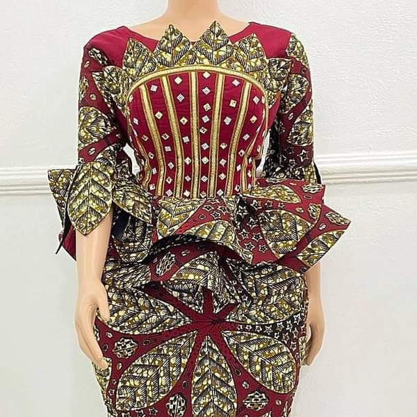2020/2021 Ankara Skirt and Peplum Blouse Styles