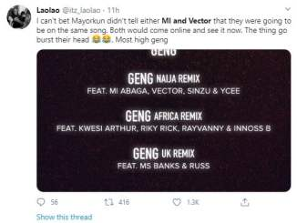 Singer, Mayorkun causes stir after revealing he featured rap rivals, M.I and Vector in his new song