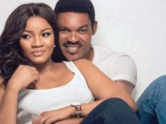 Omotola gushes over husband, kids