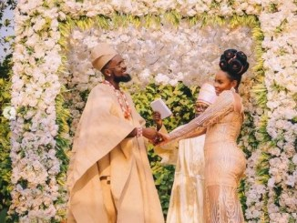 """This is what actually happened in Abule"" - Nigerians react as Patoranking ties the knot with Yemi Alade (photos)"