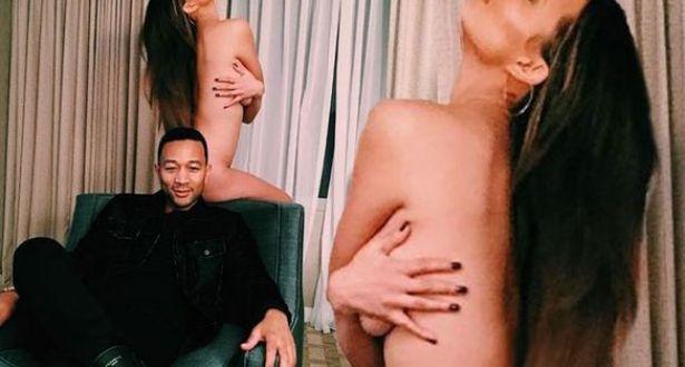 Chrissy Teigen goes wild with husband John Legend (Photos:18+)