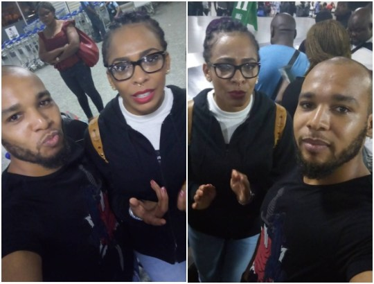 Photos: Tboss lands in Lagos And Fans Welcome Her