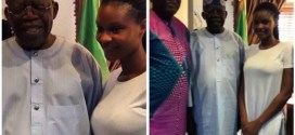 Late Moji Olaiya's daughter pictured with Bola Tinubu today