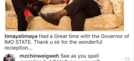 Timaya blast follower who spotted his wrong spelling