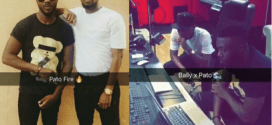 Ex-housemate, Bally to collaborate with Patoranking, pictured in studio
