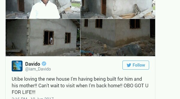 Chelsea FC's legend Didier Drogba reacts to Davido building a house for young boy fan, Utibe