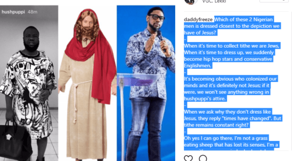 Daddy Freeze compares Hushpuppi's women wear to that of Jesus, shades Pastor Fatoyinbo