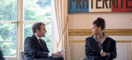 Rihanna meets with French president Macron and first lady Brigitte (Photos)
