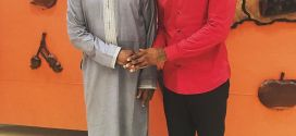 Peter Okoye pictured with the President of Guinea (Photos)