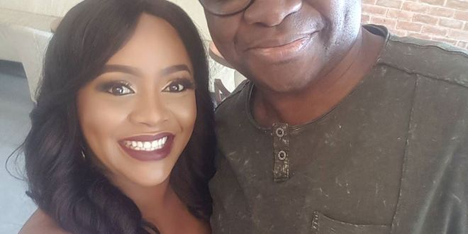 Helen Paul pictured with Governor Fayose, Pat Utomi and Jide Kosoko (Photos)