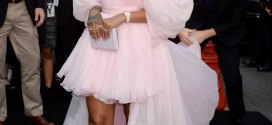 Rihanna stuns in off-the-shoulder gown at premiere of her new film in LA (Photos)